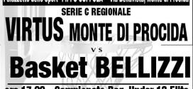 Domenica ( ore 18.00) Virtus Monte di Procida-Basket Bellizzi al Pala Pippo Coppola.