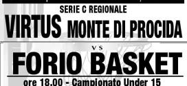 Domenica alle ore 16.30 Virtus Monte di Procida-Forio Basket seguirà l'incontro Under 15