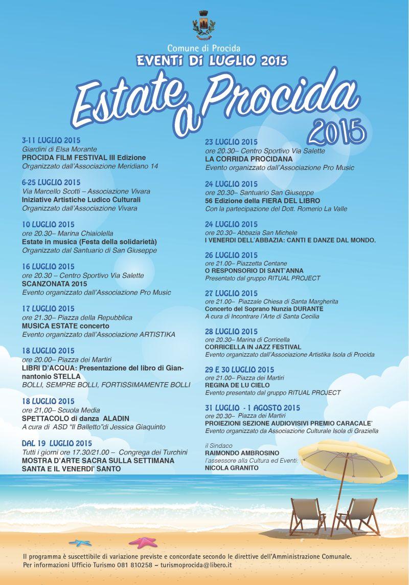 PROCIDA manifesto eventi luglio 2015