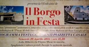 """""""Borgo in Festa"""": A Cappella tre serate di gastronomia, artigianato, arte, musica e storia"""