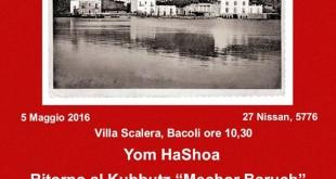 Giovedì 5 Maggio a Villa Scalera un incontro pubblico sul Giorno della Memoria dell'Olocausto