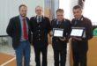 Premiati dal sindaco Pugliese i due agenti di Polizia Municipale per l'arresto di cinque ladri. Video e Foto