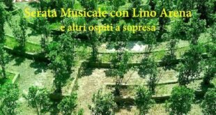 Lino Arena in concerto ai Giardini di Dedalo questa sera 20 agosto