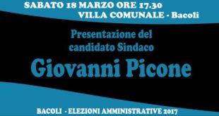 18 Marzo, alle ore 17.30 in Villa Comunale a Bacoli presentazione di GIANNI PICONE