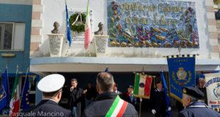 Foto della manifestazione per il 76° anniversario della scomparsa del marinaio montese Tonino Schiano