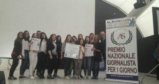 """Al Liceo Seneca primo Premio nazionale """"Giornalista per 1 giorno""""2017 sezione cultura"""
