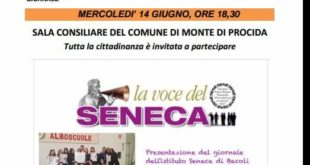 Secondo numero del giornale La Voce del Seneca presentazione in Municipio