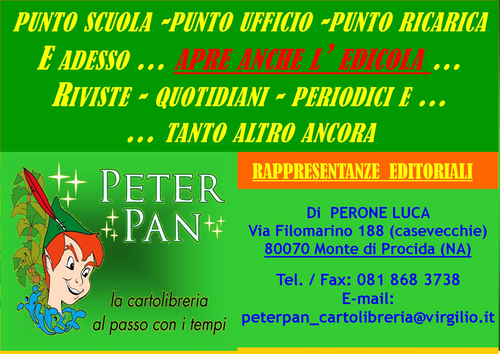 PETER PAN CARTOLIBRERIA … RADDOPPIA … E APRE ANCHE L'EDICOLA