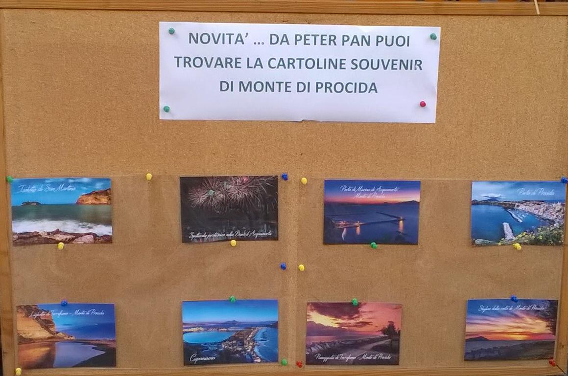 NOVITA' … CARTOLINE SOUVENIR DI MONTE DI PROCIDA … SOLO DA PETER PAN