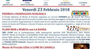 M'Illumino di Meno – Cammino di Più- 2018  Venerdì 23 Febbraio 2018
