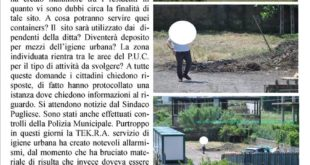 Monte di Procida, questione containers: i cittadini della periferia chiedono garanzie al sindaco