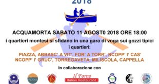 Acquamorta: Palio marinaro dell'Assunta, edizione 2018