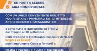 Ritorna la linea Cuma Torregaveta  Napoli ecco gli orari. CUMA EXPRESS