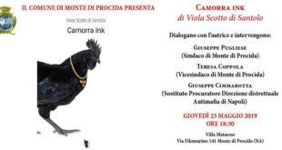 PRESENTAZIONE DEL  LIBRO DI VIOLA SCOTTO DI SANTOLO CAMORRA INK  AL COMUNE DI MONTE DI PROCIDA