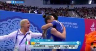 Video: ginnastica aerobica, il coach Simona Scotto di Carlo porta l'oro in Italia con Castoldi e Donati