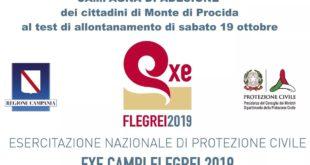 RISCHIO CAMPI FLEGREI.ADESIONE DEI CITTADINI ALL' ESERCITAZIONE DI SABATO 19 OTTOBRE.