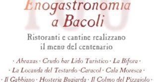 """BACOLI.Enogastronomia, I ristoratori di Bacoli preparano """"Il Menù del Centenario"""""""