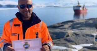Lo Stemma di Monte di Procida al Polo Sud grazie all'equipaggio montese della Nave polare Laura Bassi VIDEO