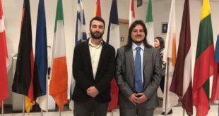 Il sindaco e il vice sindaco di Bacoli al parlamento europeo di Bruxelles