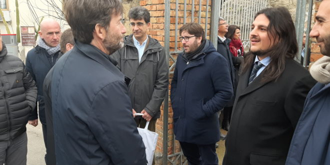 Il ministro Franceschini in visita alla Piscina  Mirabilis Video e Foto Paco Smart