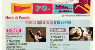 """Monte di Procida. Torna la kermesse """"Arte e…Musica nella Terra del Mito"""" il 25 e 26 gennaio"""