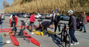 IN WATERBIKE  DA ACQUAMORTA A PROCIDA. VIDEO E FOTO