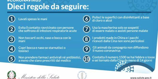 Monte di Procida. Coronavirus il Comune raccomanda le 10 regole da seguire.