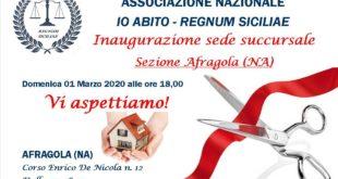 """L'associazione Nazionale """"IO ABITO – REGNUM SICILIAE"""" inaugura una nuova sede a Afragola"""