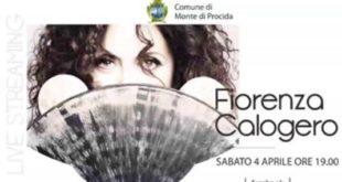 Sabato alle 19:00 il concerto in Live streaming di Fiorenza Calogero dalla pagina del Comune.