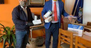 Mascherine dagli USA il sindaco Pugliese ringrazia Tony Moscarella Esposito.