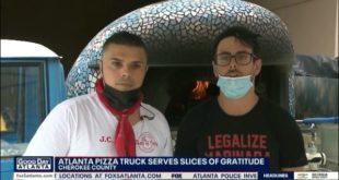 600 pizze per l'ospedale di Atlanta sfornate da Gianluca Schiano di TASTE OF ITALY.