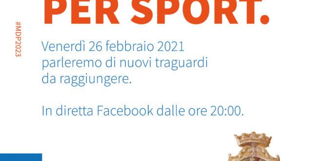 Seguiteci per Sport: evento on line del Comune di Monte di Procida per venerdì 26 febbraio