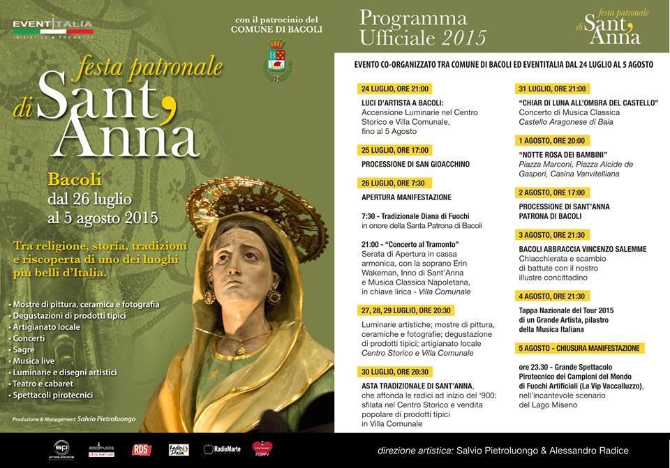 Programma Festa di Sant'Anna
