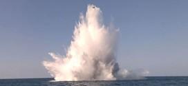 Scossa di terremoto? No, solo un'esplosione in mare