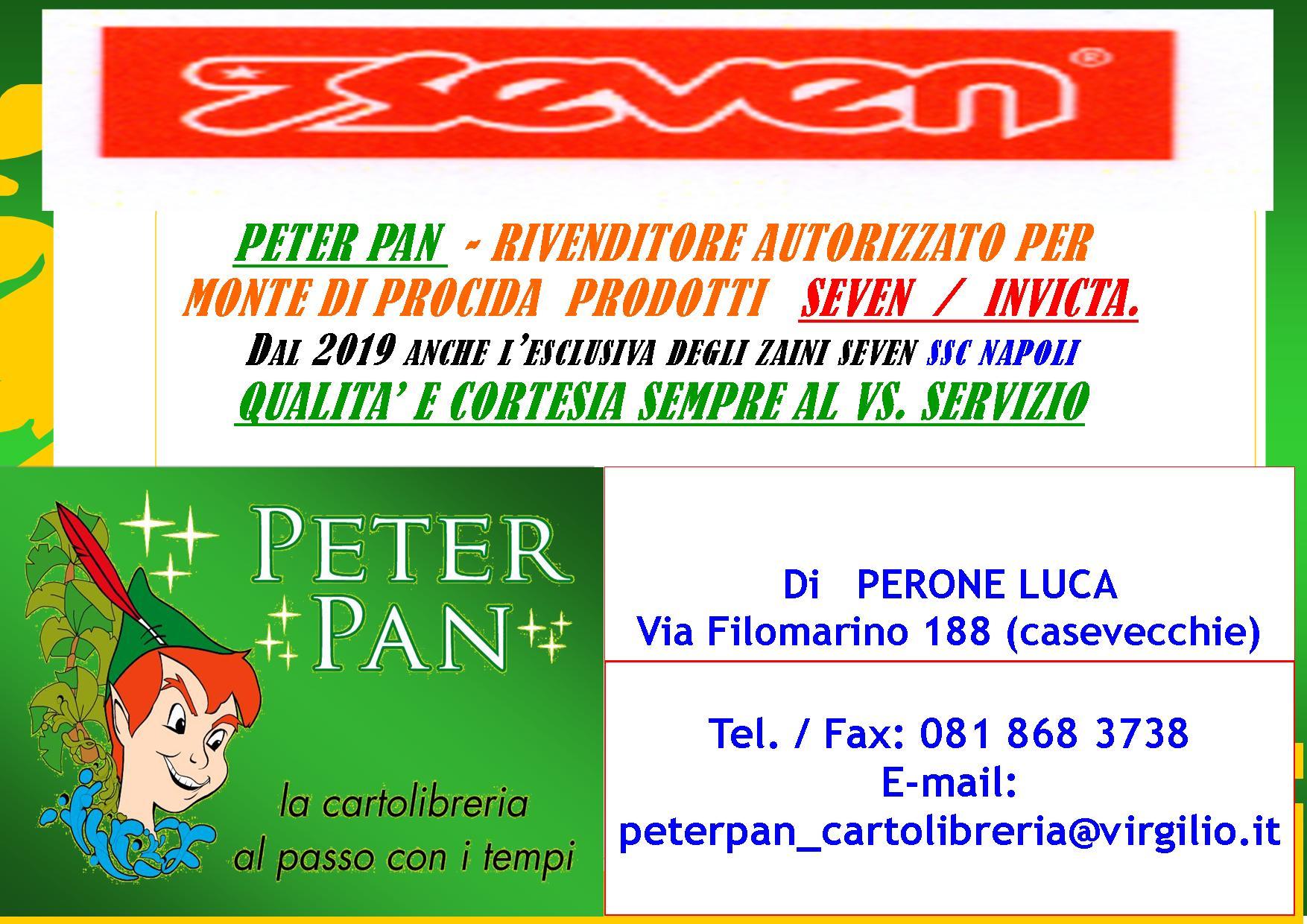 PETER PAN RIVENDITORE AUTORIZZATO SEVEN/INVICTA PER MONTE DI PROCIDA