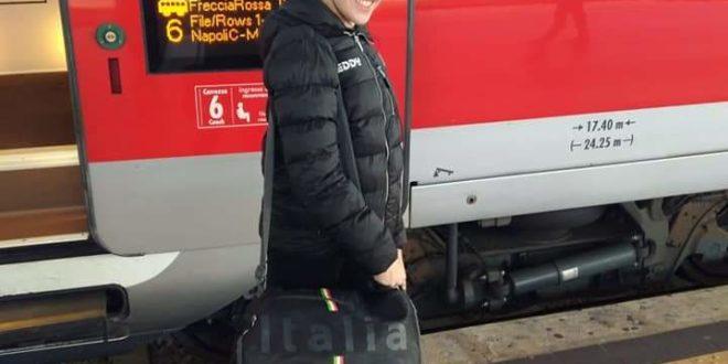 Ecco la partenza di Gaia Laurino per gli europei di ginnastica aerobica.