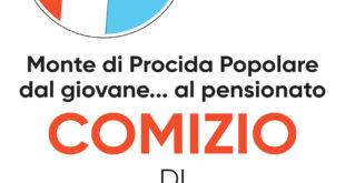 Monte di Procida popolare, venerdì 24 maggio il comizio di Pino Lubrano in piazza XXVII gennaio