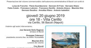 Villa Cerillo  BACOLI 1919-2019 cento anni di storia Giovedì 20 giugno 2019 ore 18