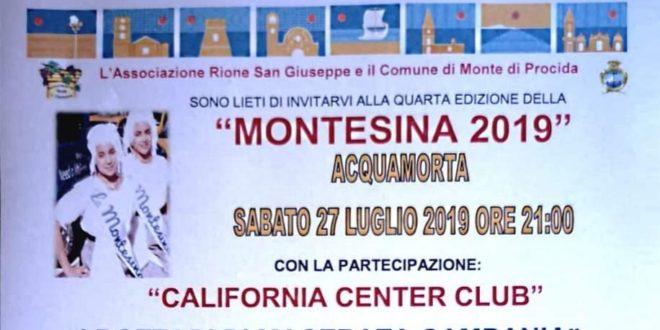 """Monte di Procida. Sabato 27 luglio torna la """"Montesina"""""""