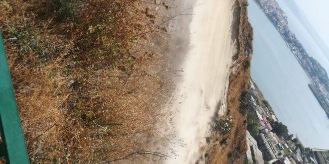 Monte di Procida. Frana in zona Chalet in via Panoramica