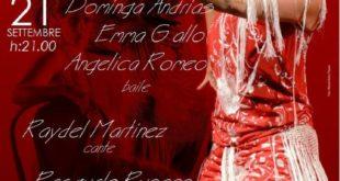 Dominga Andrias sabato a Aversa in Flamenco live spettacolo a Palazzo Cascella.