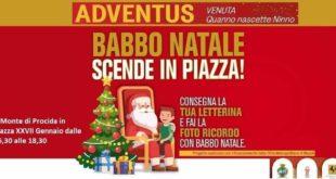 """Monte di Procida. Il Natale 2019 prosegue con """"Adventus"""" a Piazza XXVII Gennaio"""