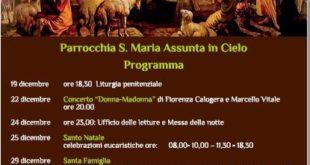 MONTE DI PROCIDA. NATALE 2019. Programma Parrocchia S: MARIA ASSUNTA IN CIELO.