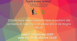 Bacoli. Lunedì 3 febbraio al Fusaro inaugurazione del plesso scolastico del Liceo L. A. Seneca.