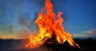 Bacoli. Denunciato un uomo che bruciava rifiuti di ogni tipo nel falò di S. Antonio.