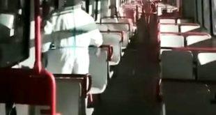 Cumana.Disinfezione ai treni per prevenzione Coronavirus