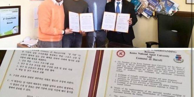 Atleti di Bacoli potranno frequentare corsi, seminari a allenamenti gratuiti in Corea del sud