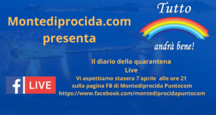 Ritorna il Diario della Quarantena stasera 7 aprile ore 21