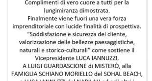 """Da Pino Lubrano gli auguri alla nuova associazione """"Alba Flegrea"""""""