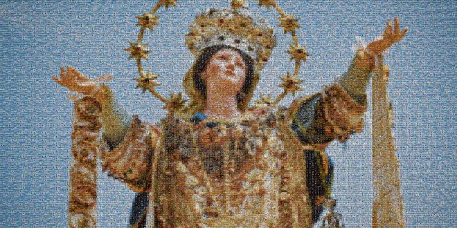 Un foto mosaico per rappresentare tutta la devozione e l'amore dei montesi per la Santissima Assunta. Video